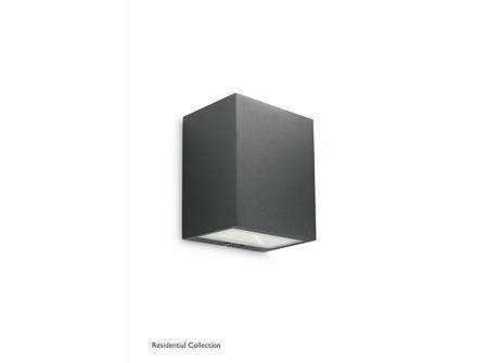 Flagstone wall lantern black 3x1W SELV
