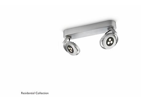 TEQNO bar/tube aluminium 2x4.5W SELV
