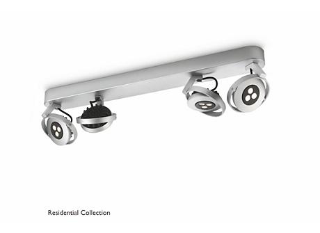 TEQNO bar/tube aluminium 4x4.5W SELV