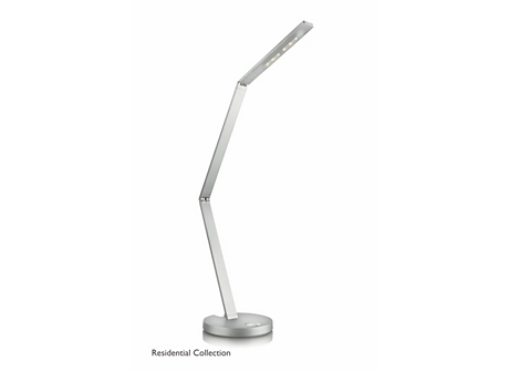 Fold table lamp aluminium 2x6.5W 18V