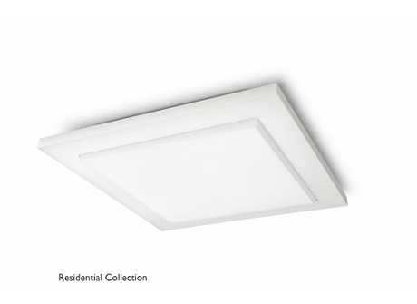 Candace ceiling lamp white 1x40W
