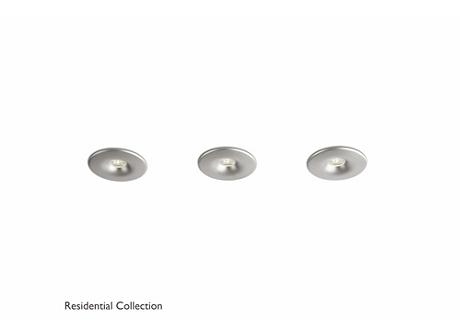 Merope recessed aluminium 3x2W SELV