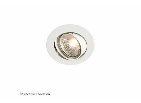 Bombay round recessed white 1x50W 230V