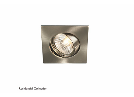 Bombay square recessed nickel 1x50W 230V