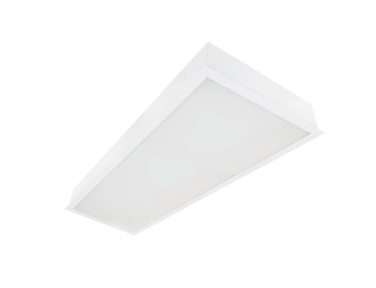 Grande eficiência e alta tecnologia em LEDs para escritórios