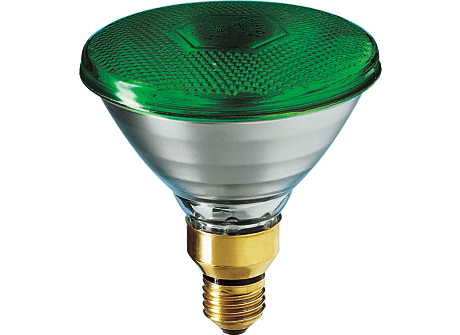 PARTYTONE 80W E27 240V PAR38 Green 1CT/6