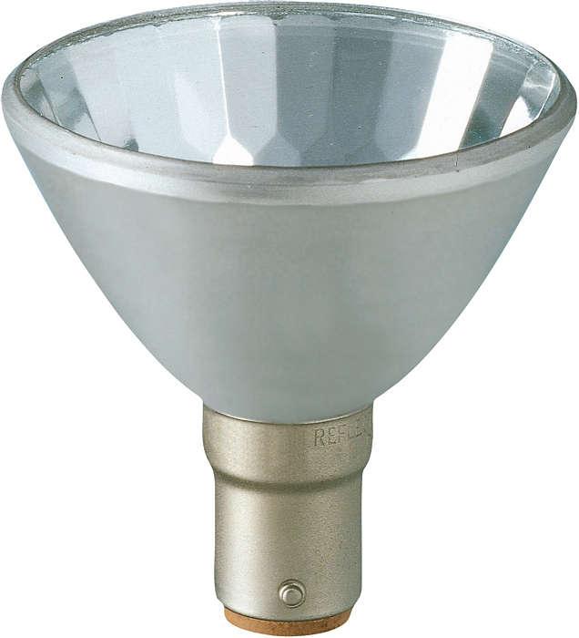 Crisp halogen spot light from aluminum-cast reflector