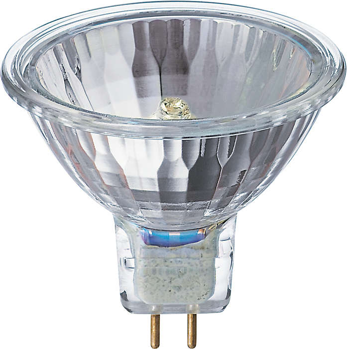 Energy efficient low-voltage halogen reflector lamps