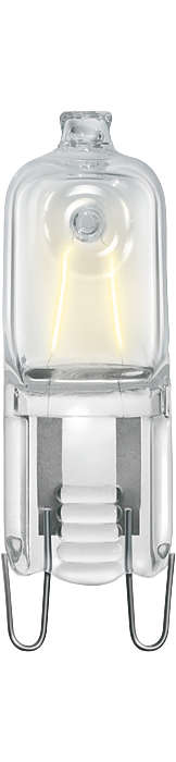 Den nye netspændingshalogenspot. Kompakt design og klart, hvidt lys