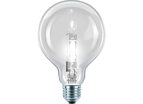 Halogen Classic 42W E27 230V G95 CL 1CT/6 SRP