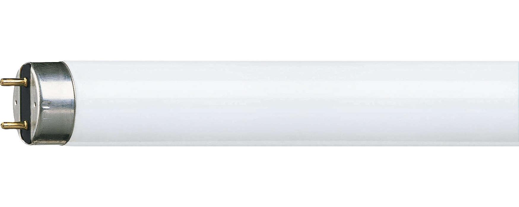 Effektiv lysrørsbelysning med forbedret farvegengivelse