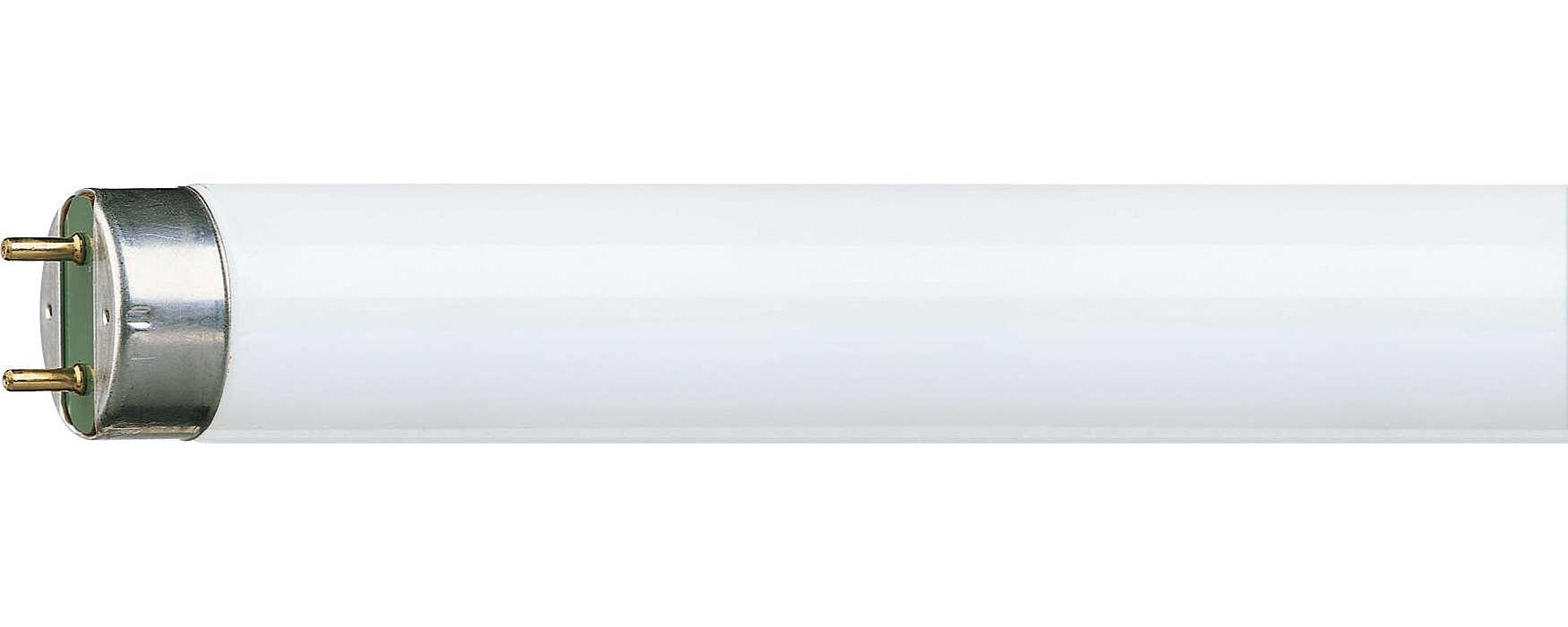Αποδοτικός φωτισμός φθορισμού με βελτιωμένη απόδοση χρωμάτων