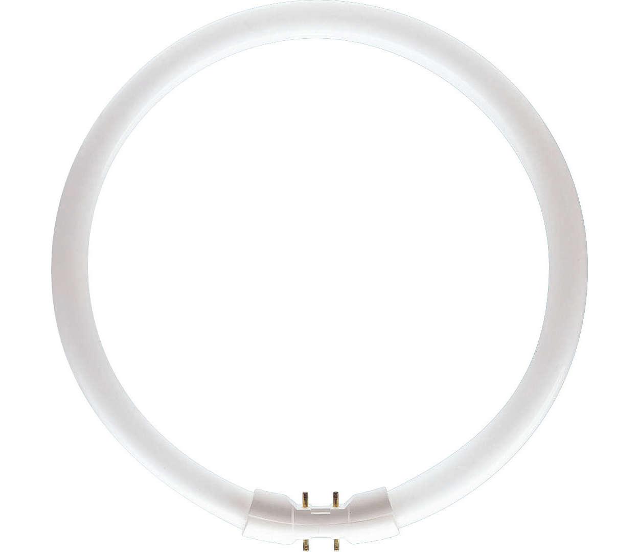 Powerful, ultra-slim circular lamps
