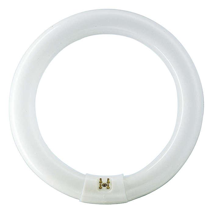 Circular shaped, basic fluorescent lighting