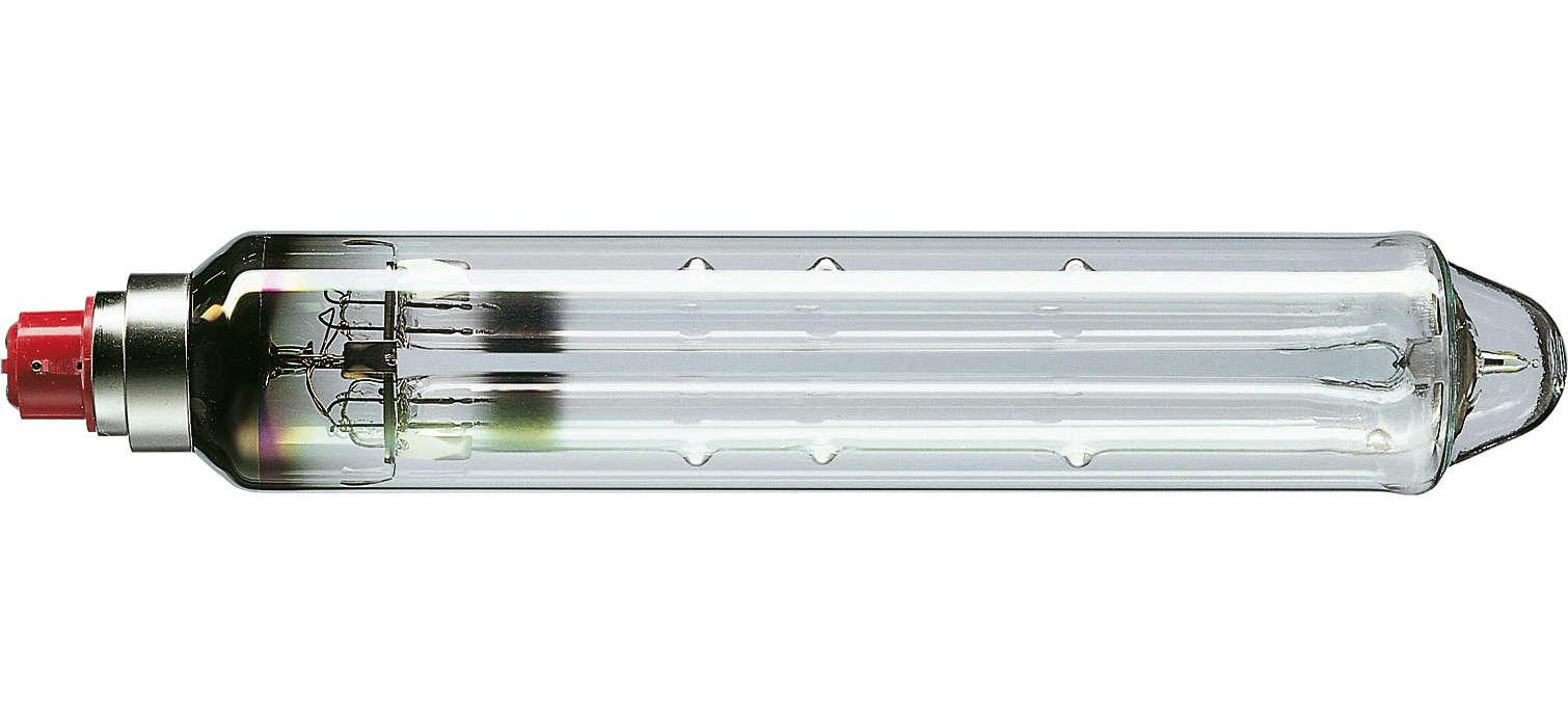 Niederdrucknatriumdampflampe mit besonders hoher Lichtausbeute