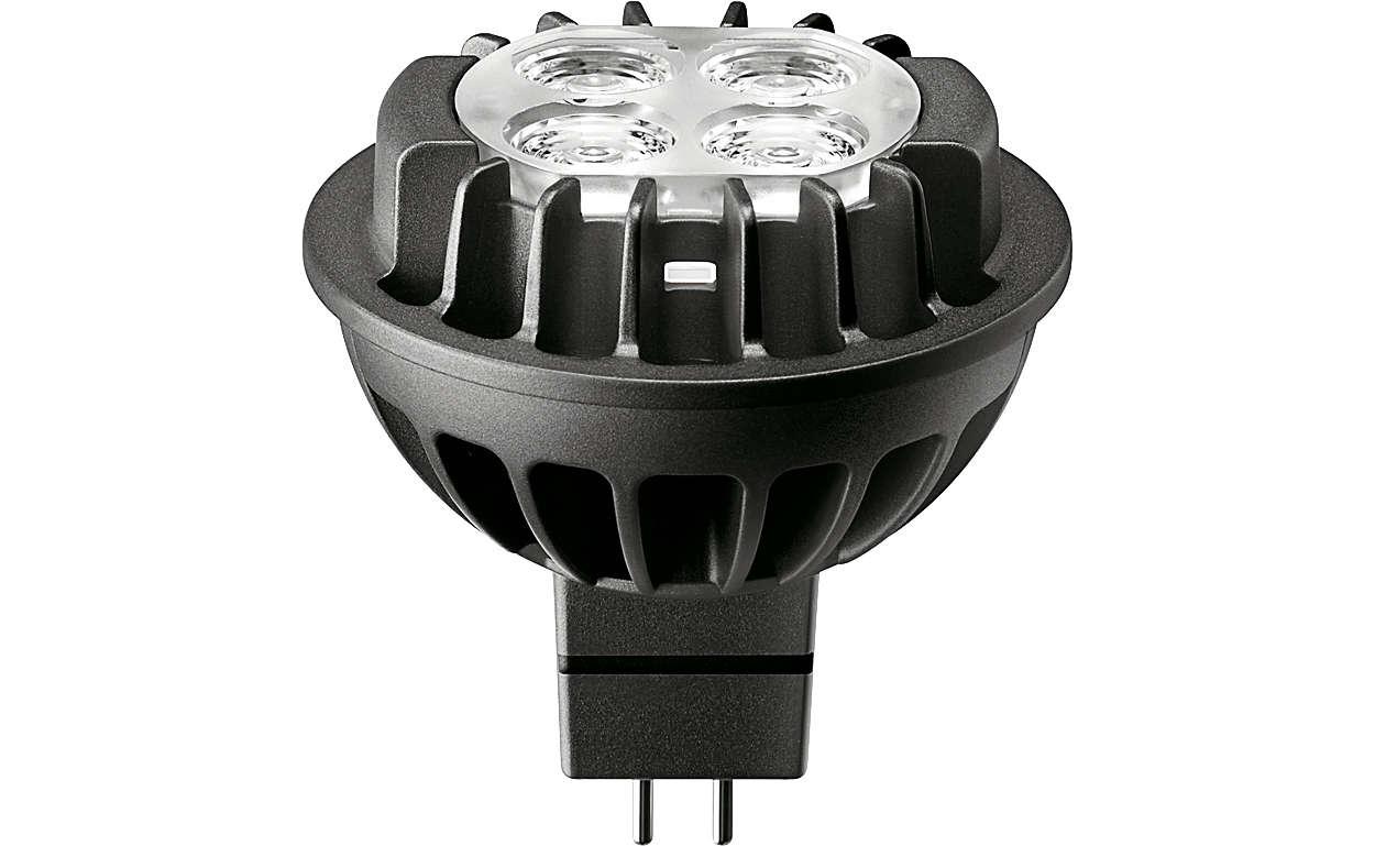 Strong performance spot light for retrofit MR16 halogen spots