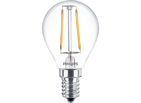 LED Filament 2.3-25W E14 WW P45 ND 1PF AU