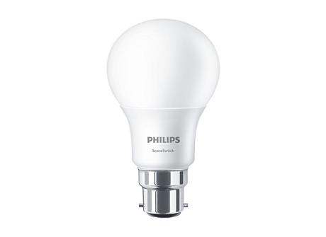 LED Scene Switch 60W A60 B22 WW FR ND 1BC/4
