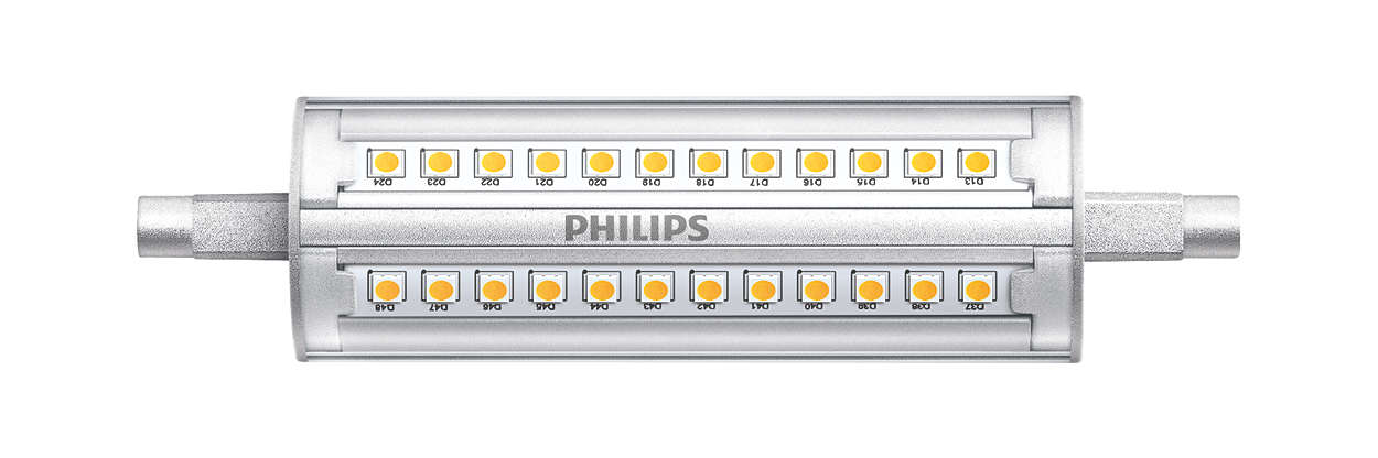 Mains-voltage linear R7S with very high light output