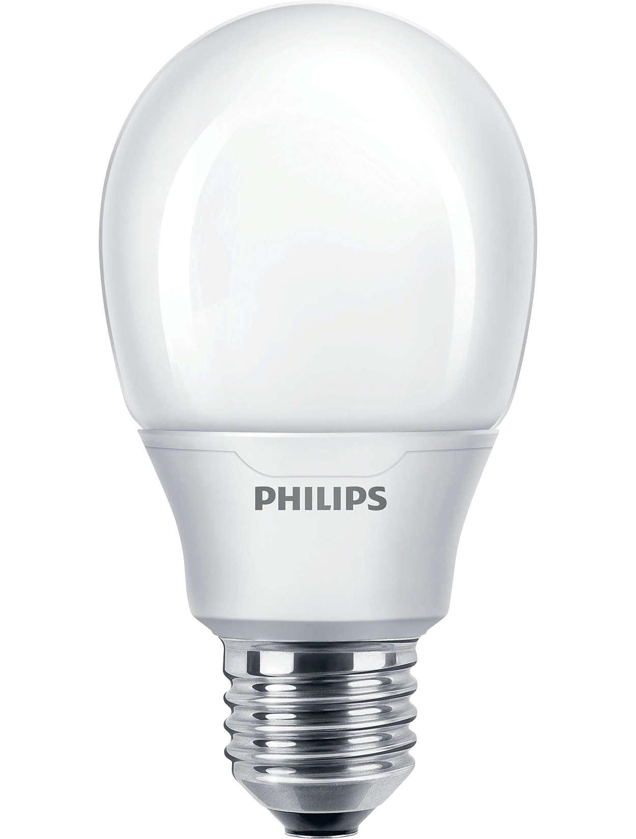 Spaarlamp schept een intieme en gezellige sfeer