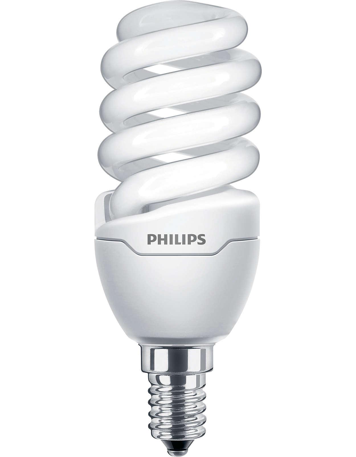 Lampe Twister faible consommation de taille extrêmement compacte