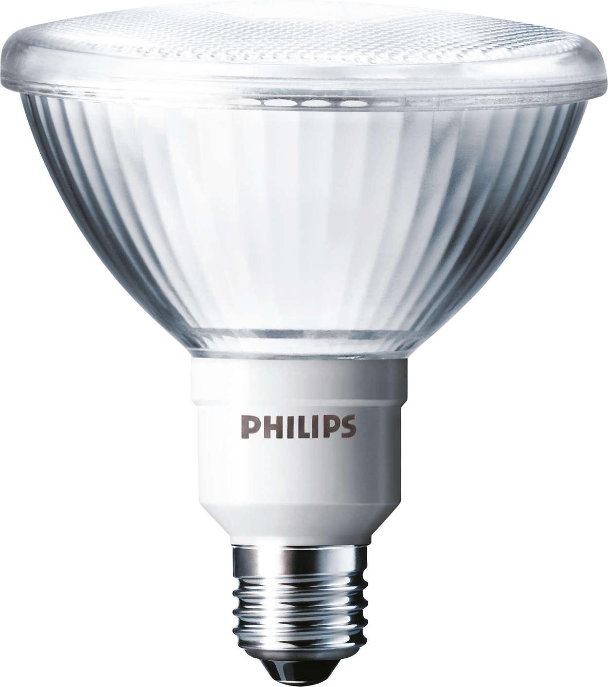 Conçue pour remplacer les lampes incandescentes ou halogènes à réflecteur de type PAR38