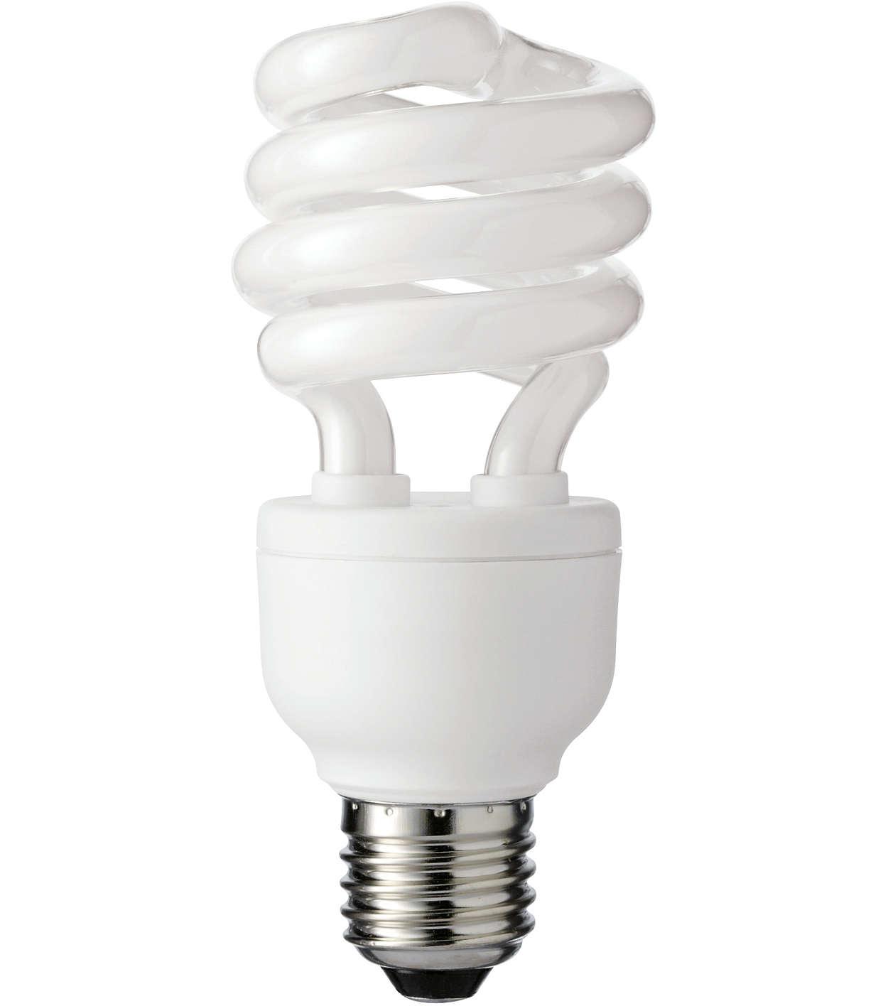 Decorative spiral-shaped energy-saving lamp