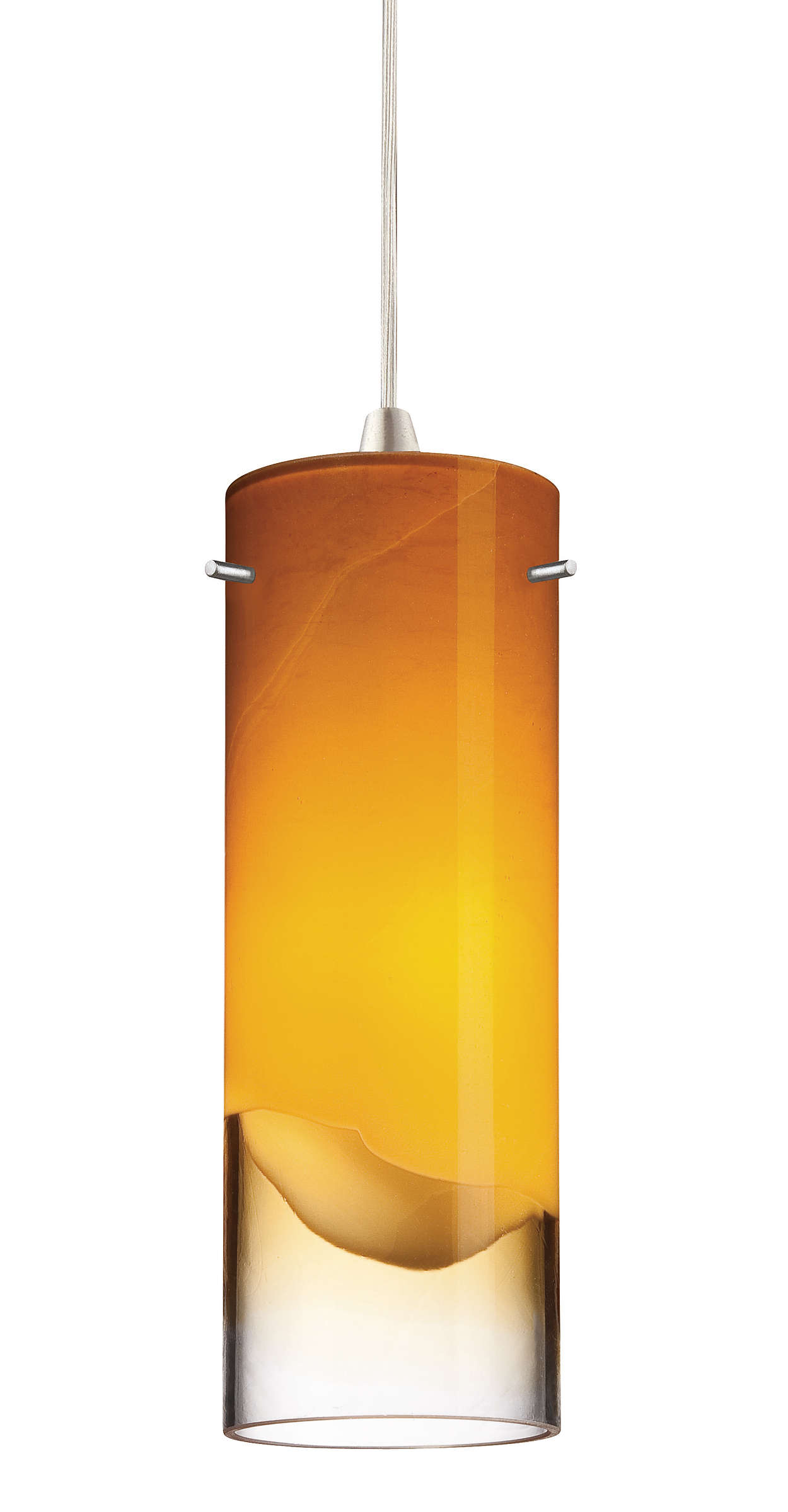 Crete amber glass shade