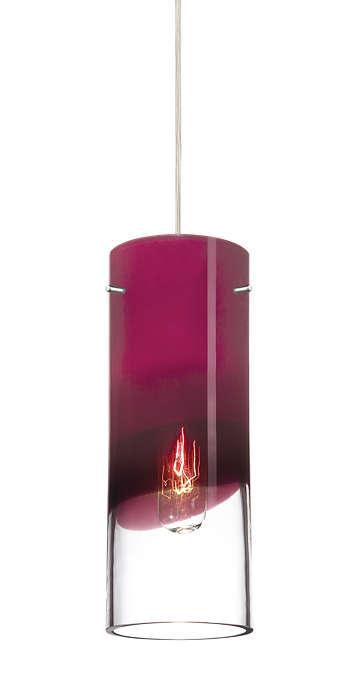 Crete purple glass shade