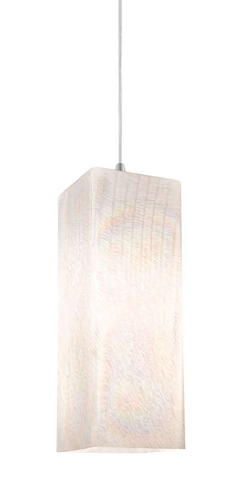 Cotton Candy white glass shade