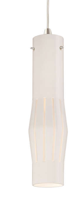 Expanse white glass shade