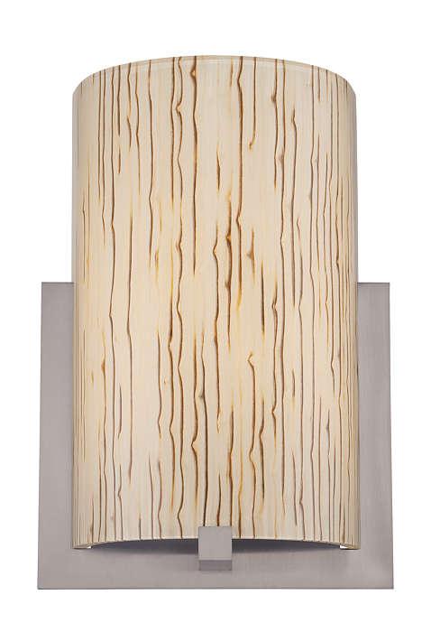 Bow acrylic shade with inlaid bamboo