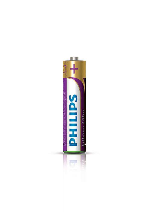 Działa 7 razy dłużej niż bateria alkaliczna