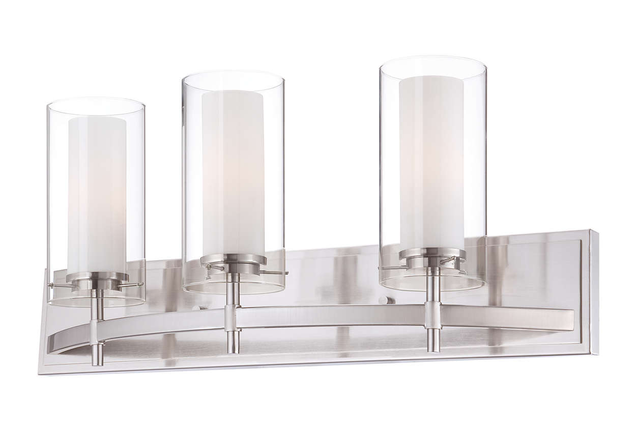 Hula 3-light bath fixture in Satin Nickel finish