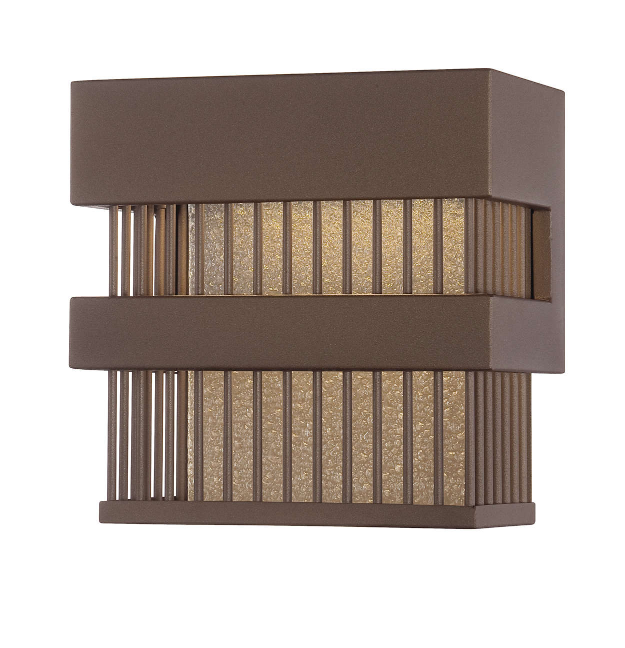 Corydon LED outdoor wall lantern, Bronze finish