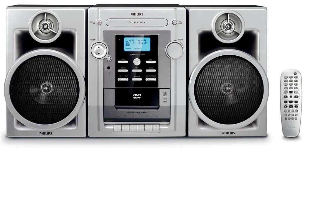 Enjoy DVD and MP3-CD playback