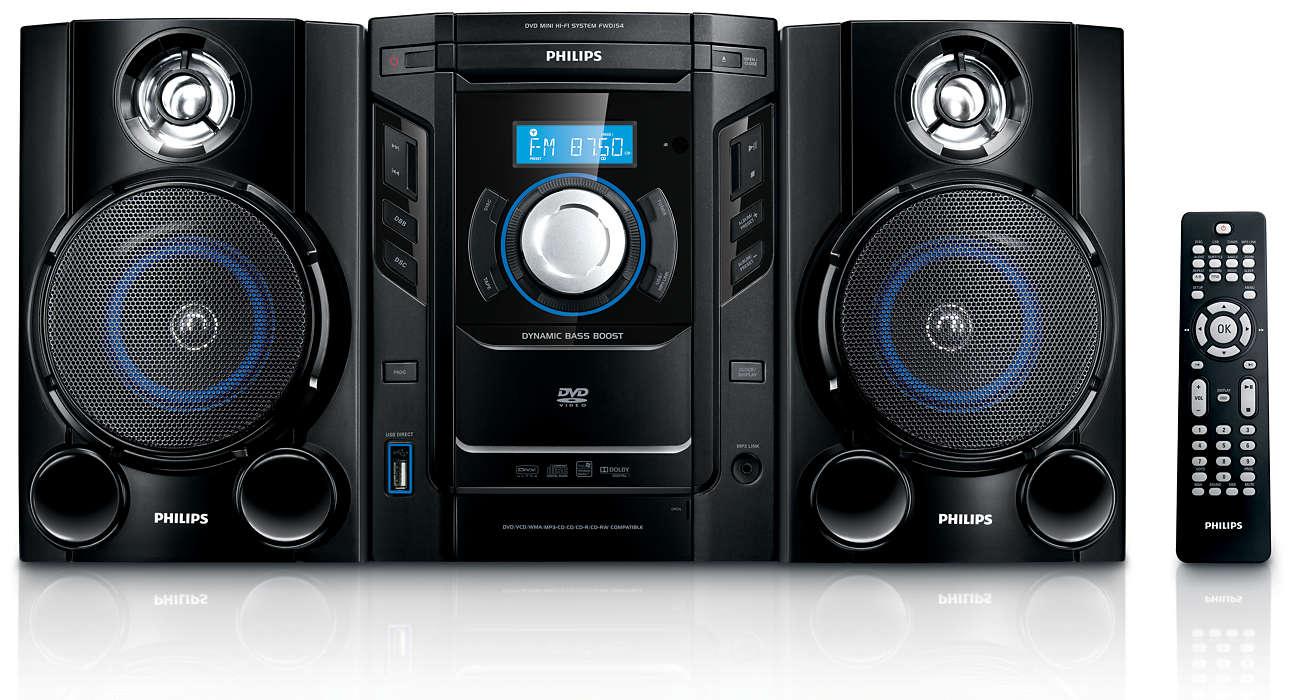 เพลิดเพลินกับ DVD และ MP3-CD ที่มีเสียงคุณภาพเยี่ยม
