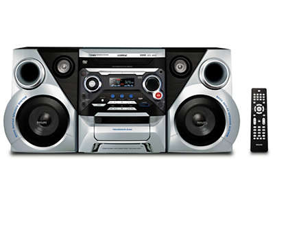 Enjoy DVD and MP3-CD with dynamic bass