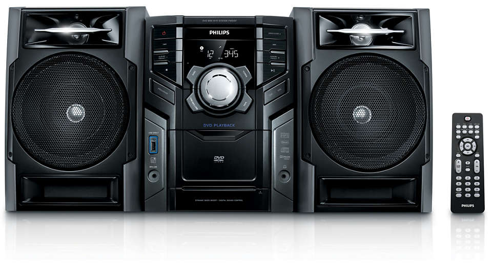 Enjoy DVD and MP3-CD in rich sound