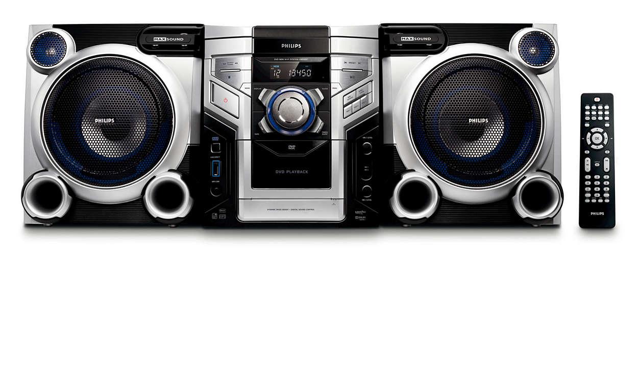 เพลิดเพลินกับ DVD และ เพลง MP3 ในพลังเสียงคุณภาพเยี่ยม