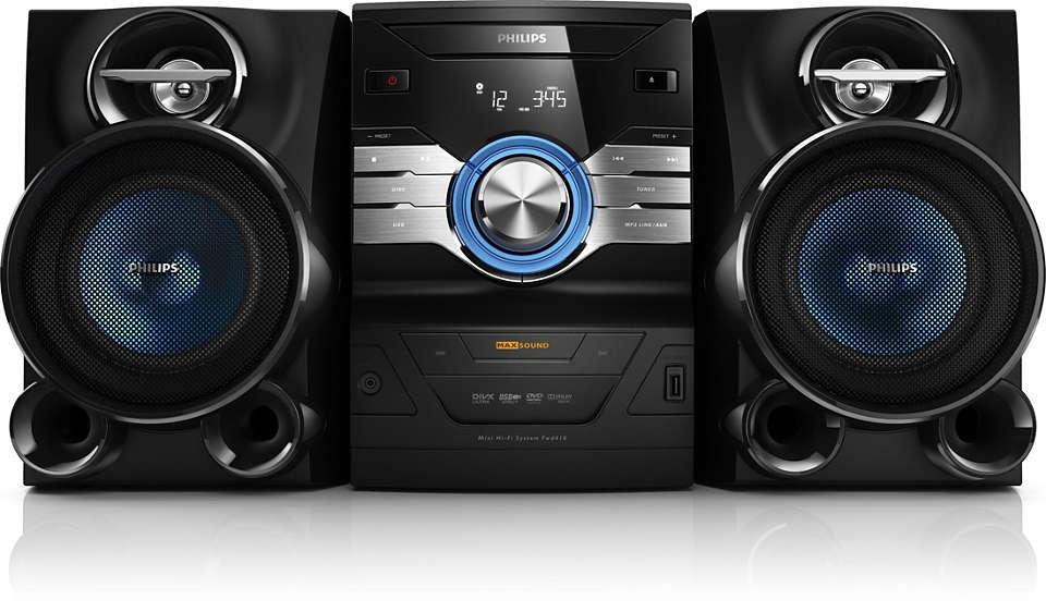Disfrutá del sonido enriquecido de DVD y CD MP3.