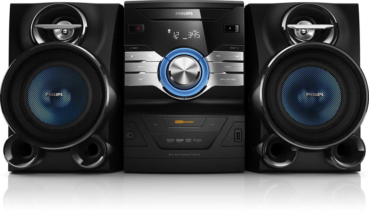 เพลิดเพลินกับเสียงที่เต็มอิ่มจาก DVD และแผ่นดิสก์ MP3
