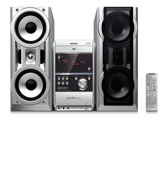 Nauti musiikista ja virtual surround -äänentoistosta