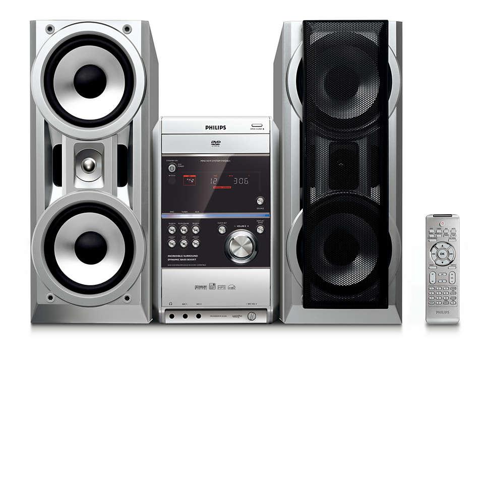 Geniet van muziek met Virtual Surround Sound