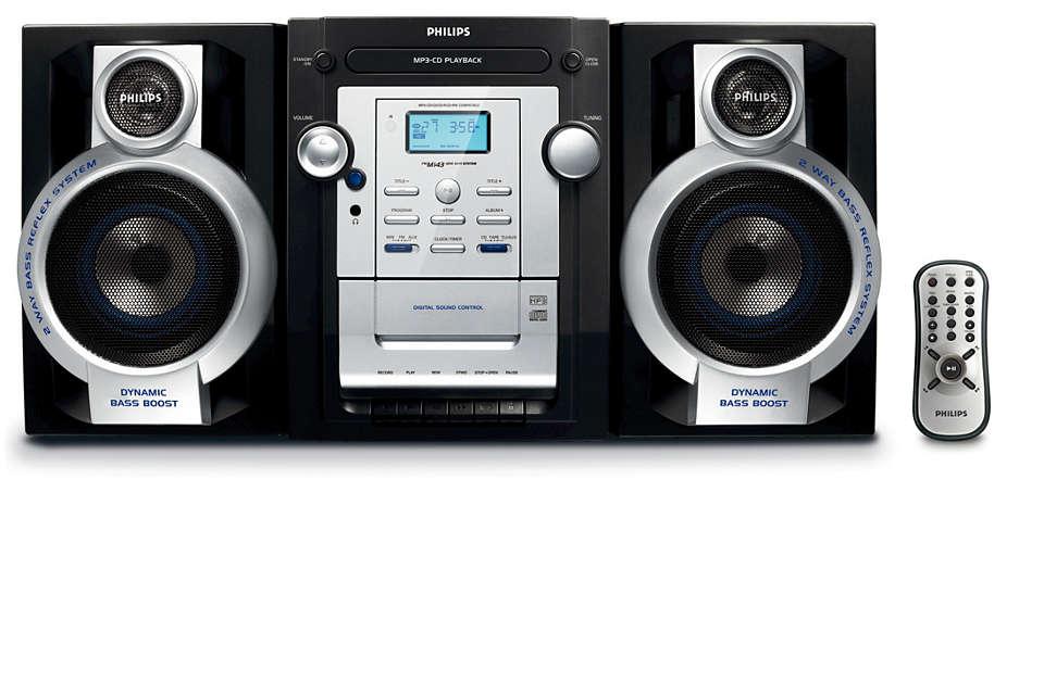 Ascolta i tuoi file di musica CD-MP3 preferiti in piena sonorità