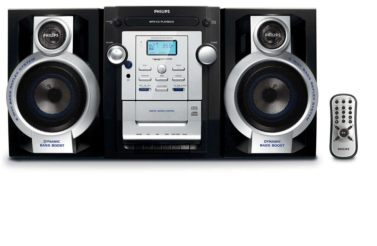 Klausykitės mėgstamų MP3-CD muzikos įrašų sodriu garsu