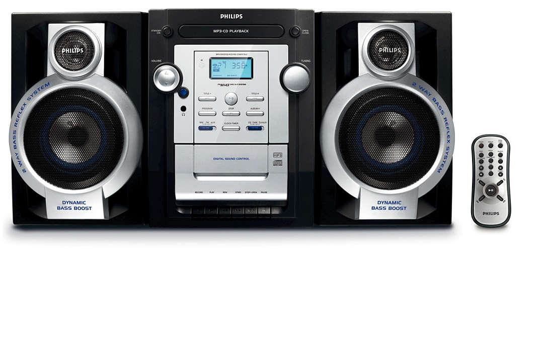 Słuchaj ulubionej muzyki MP3–CD w głębokim brzmieniu