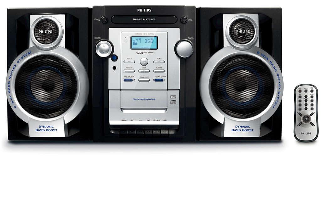 Lyssna på din favorit-MP3-CD-musik med fylligt ljud