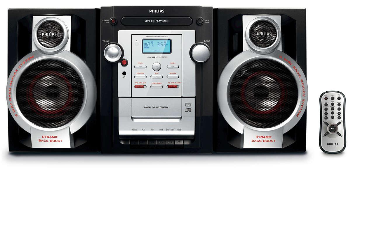 Disfruta de tu música favorita en MP3-CD con un excelente sonido