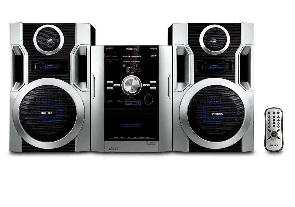 Poslouchejte hudbu zdisku MP3-CD sbohatým zvukem